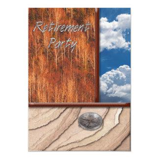 Retraite de ciel d'arbres de roche carton d'invitation  12,7 cm x 17,78 cm