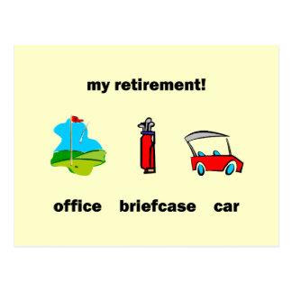 Retraite drôle de golf cartes postales