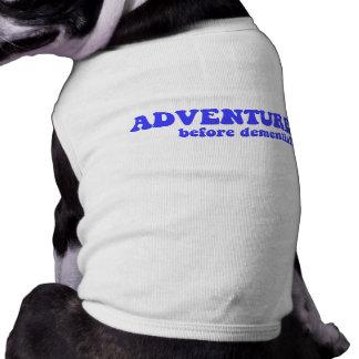 Retraite drôle t-shirt pour chien