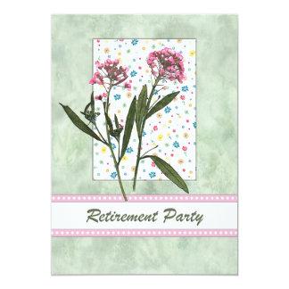 Retraite florale rose et verte de ressort invitations personnalisables