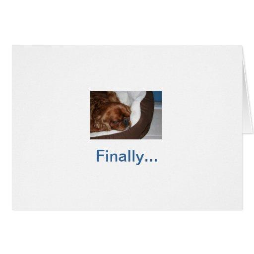 Retraite idiote de chien carte de vœux