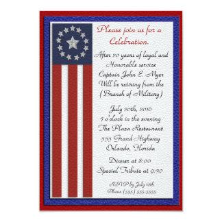 Retraite militaire toutes les branches carton d'invitation  12,7 cm x 17,78 cm