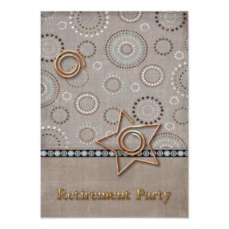 Retraite radiale radicale carton d'invitation  12,7 cm x 17,78 cm