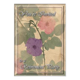 Retraite rose poussiéreuse de modèle invitations personnalisées