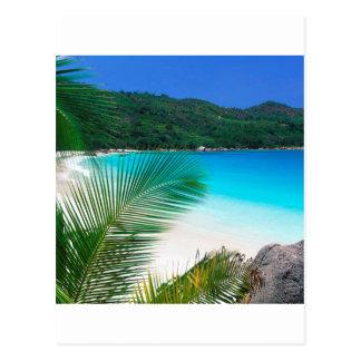 Retraite tropicale Seychelles de plage Carte Postale