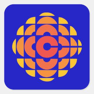 Rétro 1974-1986 sticker carré