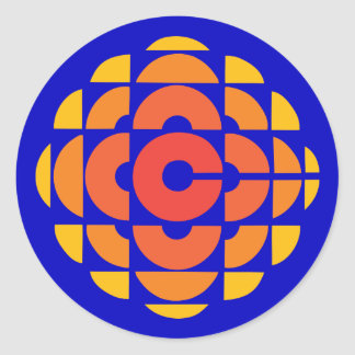 Rétro 1974-1986 sticker rond