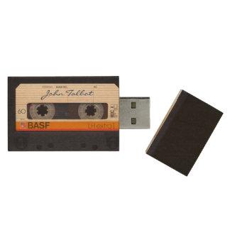 Rétro 80s mode vintage Mixtape bande audio USB Clé USB 2.0 En Bois