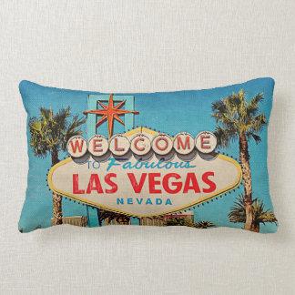Rétro accueil de cru vers Las Vegas fabuleux Coussins Carrés