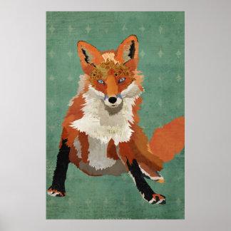 Rétro affiche ambre d'art de diamant de Fox