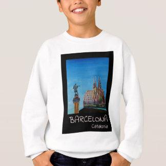 Rétro affiche Barcelone Sweatshirt