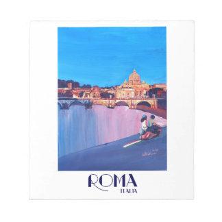 Rétro affiche de Rome Italie Bloc-note