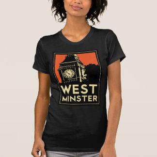 rétro affiche de voyage d'art déco de Westminster T-shirt