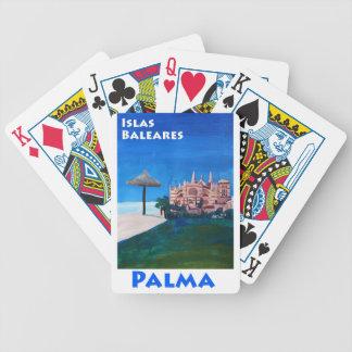 Rétro affiche Palma de Majorque Jeu De Cartes