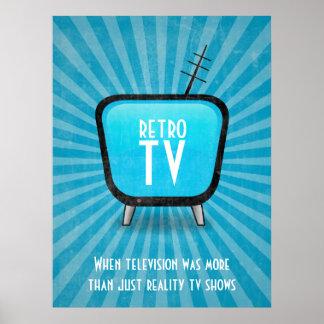 Rétro affiche vintage de télévision de TV Posters