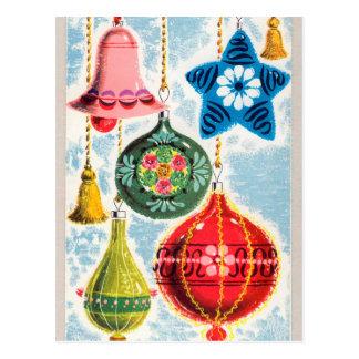 Rétro affiche vintage de vacances de cloches de carte postale