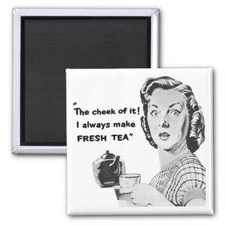 Rétro aimant vintage de réfrigérateur de thé de la