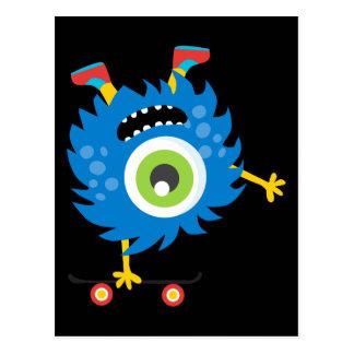 Rétro alien fait sur commande de monstre carte postale