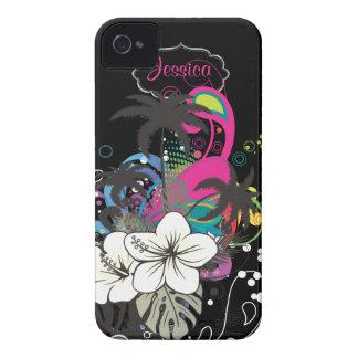 Rétro Aloha/DIY couleur d'arrière - plan de Étuis iPhone 4