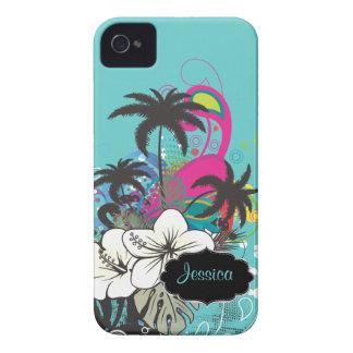 Rétro Aloha/DIY couleur d'arrière - plan de Coques iPhone 4