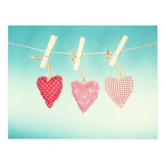 Rétro amour carte postale