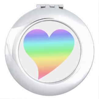 Rétro amour les années 70 lumineux génial miroirs de poche