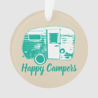 Rétro amusement de camping de remorque de camping