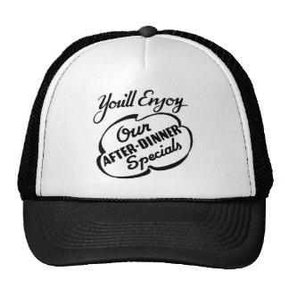 Rétro amusement indiquant le chapeau de casquette