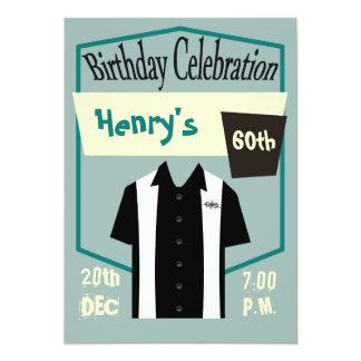 Rétro anniversaire de rockabilly de bowling de carton d'invitation  12,7 cm x 17,78 cm