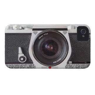 Rétro appareil-photo avec le rouleau sur le cas de coque iPhone 4