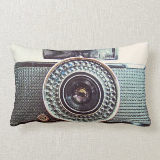 Rétro appareil-photo coussin décoratif
