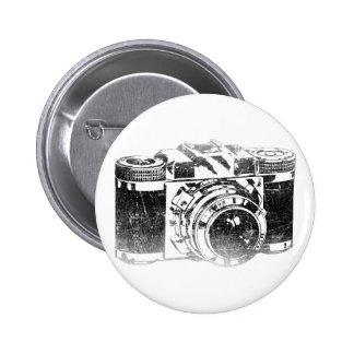 Rétro appareil-photo des années 50 badge rond 5 cm