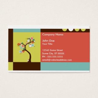 rétro arbre cartes de visite