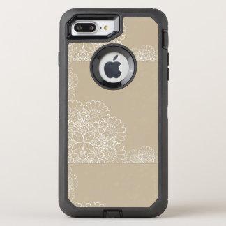 Rétro arrière - plan avec l'ornement de dentelle coque otterbox defender pour iPhone 7 plus