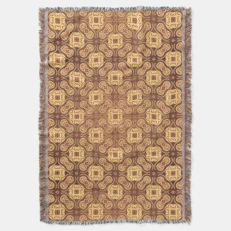 Rétro arrière - plan coloré de motif couvre pied de lit