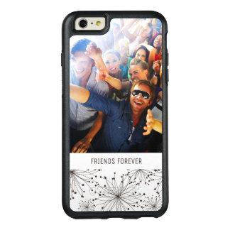 Rétro arrière - plan floral fait sur commande de coque OtterBox iPhone 6 et 6s plus