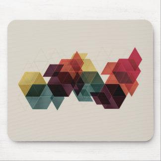 Rétro arrière - plan géométrique de cube tapis de souris