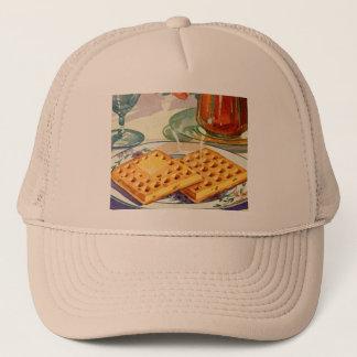 Rétro art à noix vintage de gaufres de la casquette