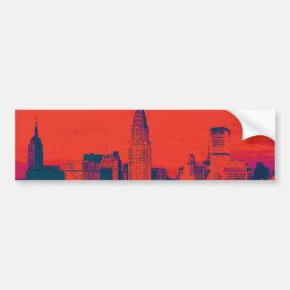 Rétro art de bruit rouge pointillé de style New Autocollant Pour Voiture