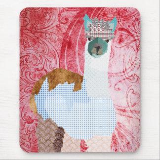Rétro art rouge Mousepad d alpaga Tapis De Souris