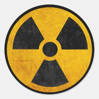 Rétro autocollant radioactif