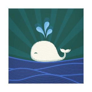 Rétro baleine toile tendue sur châssis