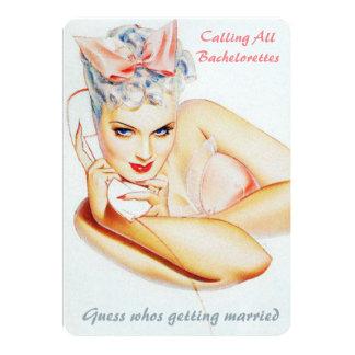 Rétro bavardage drôle de mariage d'appel carton d'invitation  12,7 cm x 17,78 cm