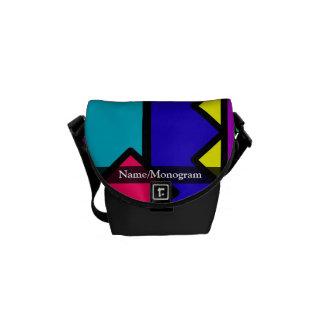 Rétro bloc de la couleur 80s sacoche