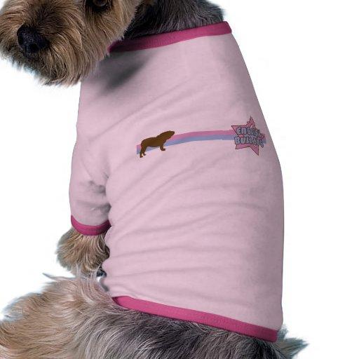 Rétro bouledogue de l'anglais d'étoile manteaux pour chien