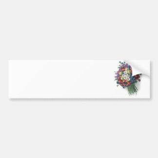 Rétro bouquet floral vintage coloré romantique autocollant de voiture