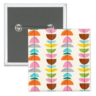 Rétro bouton coloré de nids badge carré 5 cm
