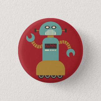 Rétro bouton de talent de robot de rouleau badge