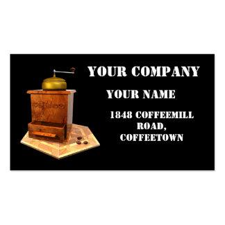 rétro businesscard de coffeemill vintage cartes de visite personnelles