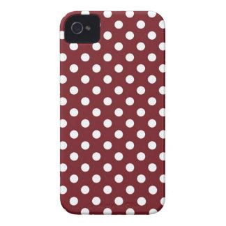 Rétro caisse rouge d'Iphone 4/4S de point de polka Coque iPhone 4 Case-Mate